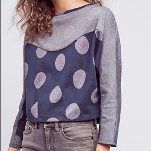 Anthropologie Postcard Cropped Sweater